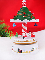 "9.2""Christmas Theme Carousel Design Music Box(Music:Castle in the Sky)"