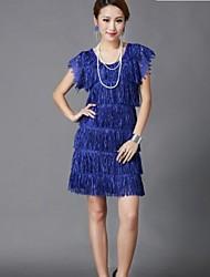 Women's Elegant Embroidery Fringed Dress