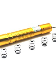 LT-05 Zoom Light Match Green Laser Pointer(1MW,532nm,1x18650,Golden)