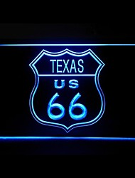 Route 66 US Texas Advertising LED Light Sign