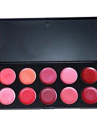 Professional 10 Color Makeup Plaette Lip Gloss Cosmetic Set 02#