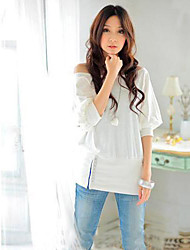Women's Trendy OFF-Shoulder Cotton Blends Top T-Shirt