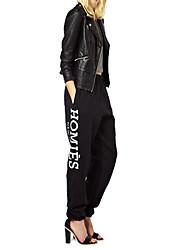 Women's Black/Gray Loose Pants , Casual
