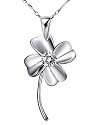 Pure S925 Silver Necklace With Pendant