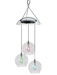 3-LED Color Changing Outdoor Solar Wind Chime Light