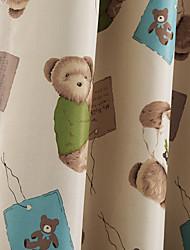 (dos paneles) osos de juguete de dibujos animados lindo y cortinas blackout novedad