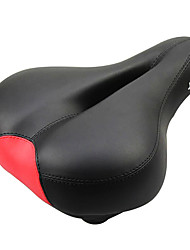 JAKROO Soft Elastic Sponge Black and Red Widened MTB Bicycle Seat Cushion Saddle
