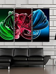 Gorgeous Color Abstract Art Framed Canvas Print Set of  3