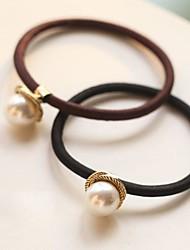 unas perlas giratorias metálico cintas para el pelo de la goma