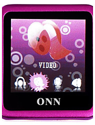 "ONN Q6 Ultra-Slim 1.5"" Screen MP3 Player with  Recording  FM -Red(4GB)"