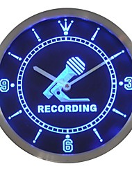 Recording Studio Display Neon Sign LED Wall Clock
