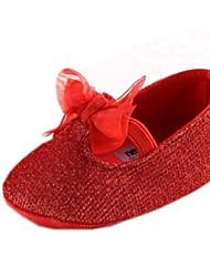 Chaussures bébé Robe Coton Ballerines Rouge