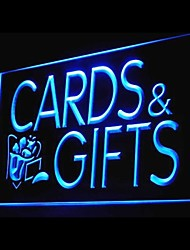 Enseigne lumineuse cartes cadeaux publicitaires conduit