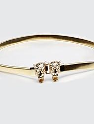 Women's Wild Leopard Head Gold Metal Belt