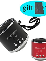 Mini Portable Music Player Speaker Support with TF Card USB Disk(Assorted Color)+ 4GB TF Card Free Gift