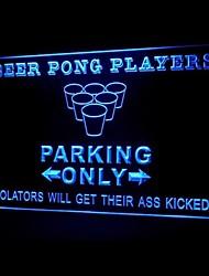 Beer Pong парковка реклама привело свет знак