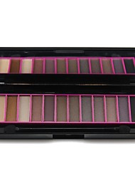 Professional Naras 12 Colors Makeup Palette Matte & Shimmer Eyeshadow Palette with Mirrror & Double Ended Brush 02#
