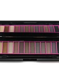 NARAS professionnel 12 couleurs palette de maquillage mat&miroitement de fard à paupières palette avec mirrror&à double extrémité brosse 02 #