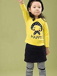 Girl's Fashion Lovely Little Girl Long Sleeves Shirt