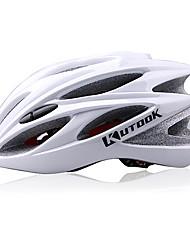 KUTOOK 21Vents EPS + PC Branco Integralmente-moldados Capacete de Ciclismo (56-62 centímetros)