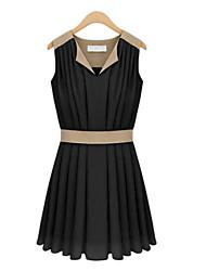 Women's V Neck Slim Dress