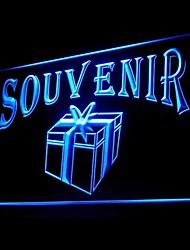 negozio di souvenir souvenir pubblicità ha condotto il segno della luce