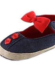 Talon plat bout rond Appartements de coton Fille avec bowknot Chaussures