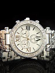 dial grande de metal relógio de forma requintado das mulheres magníficas