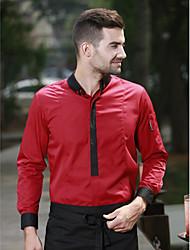 ресторанах униформа Рубашки с длинным рукавом официант с застежкой