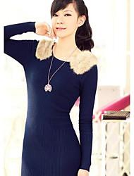 Женская корейской выращивания волос кролика свитер с длинными рукавами Хип обновления