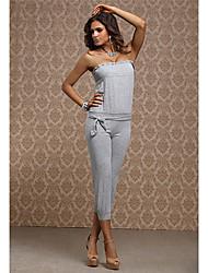 vestido de cintura alta sin tirantes atractivo del club de la muchacha de las mujeres