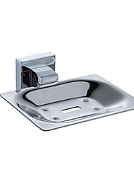 "PHASAT®,Soap Dish Chrome Wall Mounted 106*108*52mm(4.2*4.3*2"") Stainless Steel Contemporary"