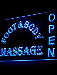 corps massage des pieds publicité ouvert conduit de lumière de signe