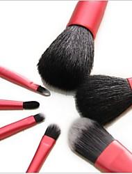 7Pcs Makeup Brush Set with Bag Magenta