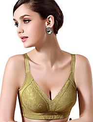 moda shenaimili delgada de color vendido v cuello de la ropa interior ajustable gran patio bra_green