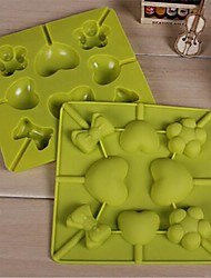 Lutscherstock Kuchen Schokolade Eis Eis-Bar Rillendesign Formen, Silikon 15 x 15 x 1,5 cm (5,9 × 5,9 × 0,6 cm)