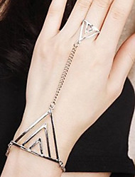 MIKI Punk Triangle Ring Ang Bracelet One-Piece