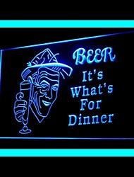 Bière Dîner Bar Vert Bleu Rouge Blanc Orange Violet Jaune Publicité LED Connexion
