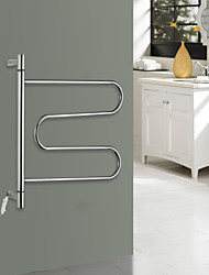 40W Towel Warmer Stainless Steel Mirror Polished Drying Rack Wall Mount