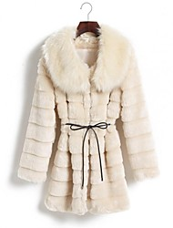 TaiChang™ Women's Mink Collar Faux Fur Coat