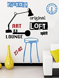 Createforlife® Artistic Light Clock Kids Nursery Room Wall Sticker Wall Art Decals