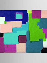 Hand Painted Oil Painting Abstract   Map Directions with Stretched Frame