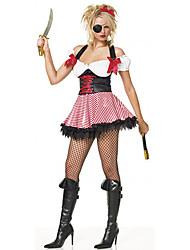 Mono-Eye Red Pirate Polyester Frauen-Halloween-Kostüm