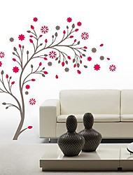 Createforlife® Pink Flower Tree Blossoms Kids Nursery Room Wall Sticker Wall Art Decals
