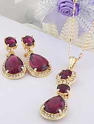 WesternRain Women's elegant Rhinestone Jewelry Set