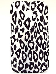 White Leopard Pattern Hard Plastic Case Cover for Motorola Moto E
