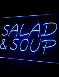 LED Salade Soupe Publicité Light Enregistrez-vous