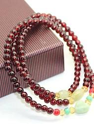Coway Lady Jade Long Garnet Bracelets(Random Color)