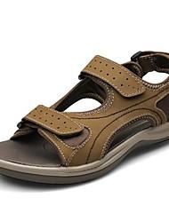 Zapatos de Hombre - Sandalias - Casual - Cuero - Negro / Marrón / Amarillo / Caqui