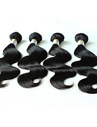 5а бразильского Виргинские наращивания волос 100% сырья уток человеческих волос натуральный цвет кузова волна 16inch